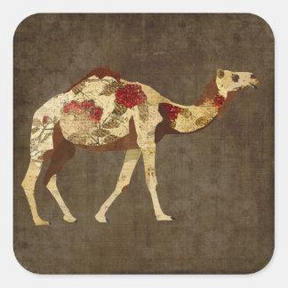 Pegatina color de rosa del camello