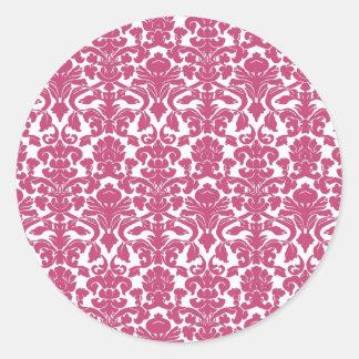 Pegatina color de rosa fucsia de la tarjeta del