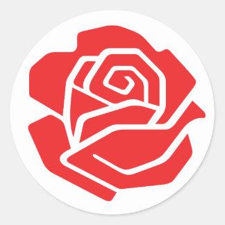 Pegatina color de rosa socialista