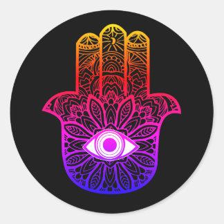 Pegatina colorido de Hamsa