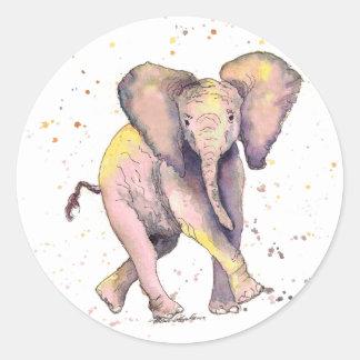 Pegatina con bebé hangemaltem de elefante