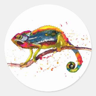 Pegatina con Chameleon multicolor handgemaltem