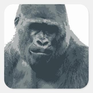 Pegatina con la cara del gorila