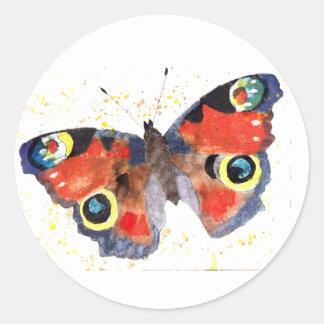 Pegatina con mariposa handgemaltem viejo con