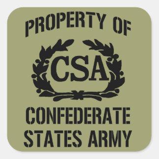 Pegatina confederado del ejército de los estados d