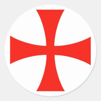 Pegatina cruzado de Knight's* Templar
