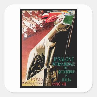 Pegatina Cuadrada 11mo ~ Roma del automóvil de Salone Internazionale