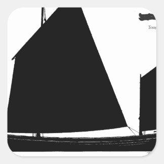 Pegatina Cuadrada 1880 carruaje experimental - fernandes tony
