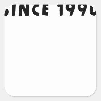 PEGATINA CUADRADA 1990
