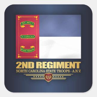 Pegatina Cuadrada 2do Regimiento, tropas del estado de Carolina del
