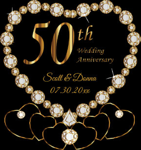 1198ef43931d Pegatina Cuadrada 50.o Aniversario de boda de oro