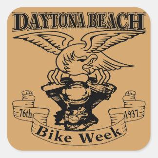 Pegatina Cuadrada 76.o Semana Eagle 1937 de la bici de Daytona Beach