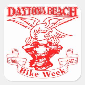 Pegatina Cuadrada 76.o Semana Eagle 1937r de la bici de Daytona