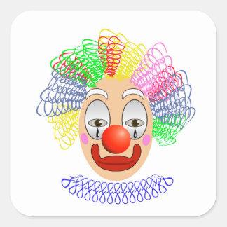 Pegatina Cuadrada 97Clown Head_rasterized