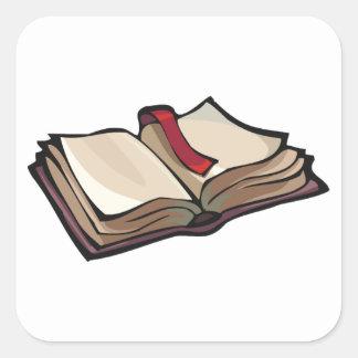 Pegatina Cuadrada Abra a los pegatinas del libro