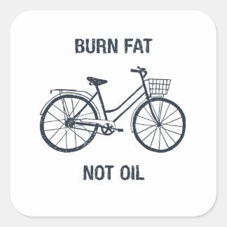 Pegatina Cuadrada Aceite de la grasa de la quemadura de la bicicleta