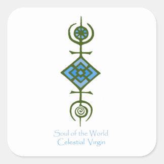 Pegatina Cuadrada Alma del mundo - Virgen celestial de VooDou