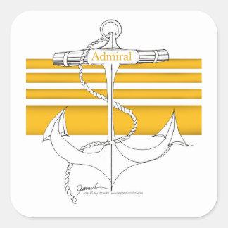 Pegatina Cuadrada almirante del oro, fernandes tony