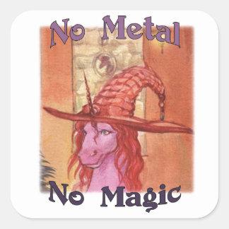 Pegatina Cuadrada Alumna ningún metal ningunos pegatinas mágicos