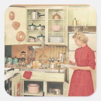 Pegatina Cuadrada Ama de casa
