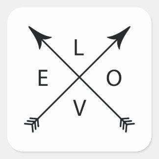 Pegatina Cuadrada Amor con las flechas