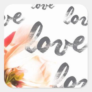 Pegatina Cuadrada Amor del amor del amor