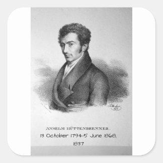 Pegatina Cuadrada Anselm Huttenbrenner 1837
