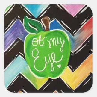 Pegatina Cuadrada Apple de mis pegatinas del ojo
