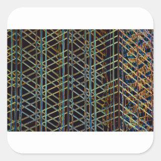 Pegatina Cuadrada Arquitectura abstracta