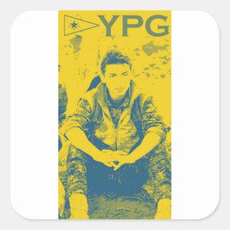 Pegatina Cuadrada Arte 4 del soldado 3 de YPG