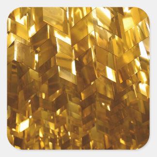 Pegatina Cuadrada Arte abstracto del techo del oro