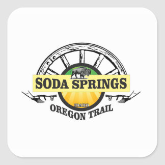 Pegatina Cuadrada arte del rastro de Soda Springs Oregon