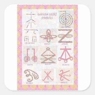Pegatina Cuadrada ARTE simbólico: Reiki domina las herramientas de