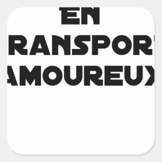 Pegatina Cuadrada AUTOESTOP ORGANIZADO EN ARREBATO DE AMOR - Juegos