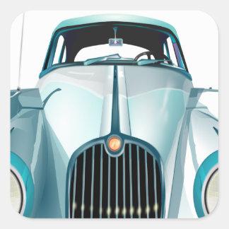 Pegatina Cuadrada automóvil del vintage del coche del oldtimer