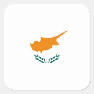 Pegatina Cuadrada ¡Bajo costo! Bandera de Chipre