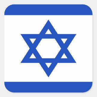 Pegatina Cuadrada ¡Bajo costo! Bandera de Israel