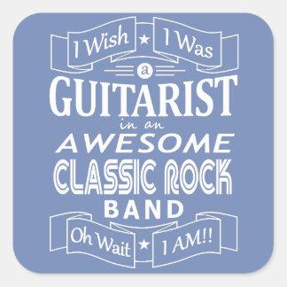 Pegatina Cuadrada Banda de rock clásica impresionante del