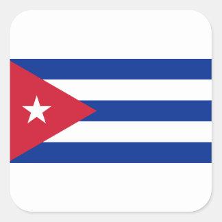 Pegatina Cuadrada Bandera cubana - Bandera Cubana - bandera de Cuba