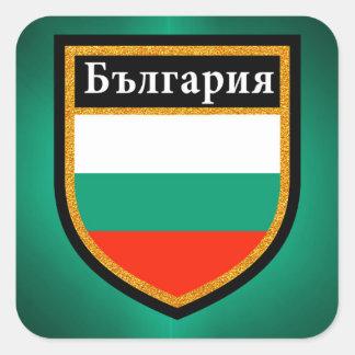 Pegatina Cuadrada Bandera de Bulgaria