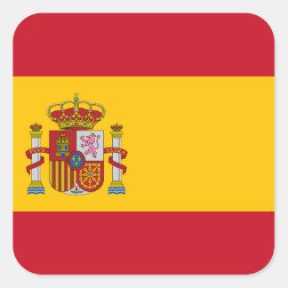 Pegatina Cuadrada Bandera de España - Bandera de Espana
