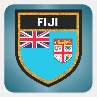 Pegatina Cuadrada Bandera de Fiji