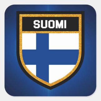 Pegatina Cuadrada Bandera de Finlandia