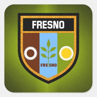Pegatina Cuadrada Bandera de Fresno