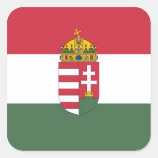 Pegatina Cuadrada Bandera de Hungría
