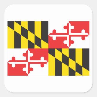 Pegatina Cuadrada Bandera de Maryland