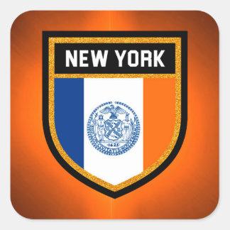 Pegatina Cuadrada Bandera de New York City