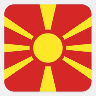 Pegatina Cuadrada Bandera del República de Macedonia