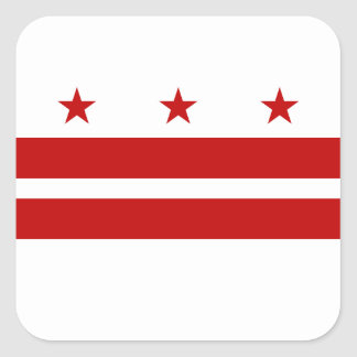 Pegatina Cuadrada Bandera del Washington DC