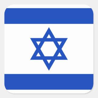 Pegatina Cuadrada Bandera nacional del mundo de Israel